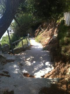 Path to the sea from  the house