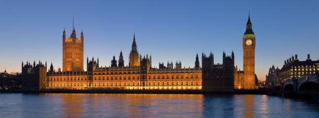 The world famous houses of parliament and Big Ben, 30 minutes away by tube train
