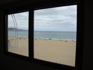 vista de Las Canteras desde el salon