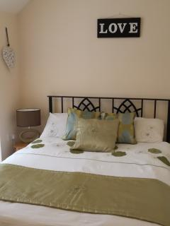 Third bedroom with beautiful double bed at number 8