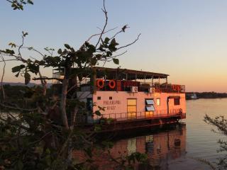 Houseboat in Lake Kariba, Zimbabwe