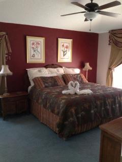 Very romantic king size bedroom.