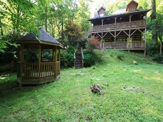 Andrea's Creek 2 well appointed log cabin, wooded setting, hot tub