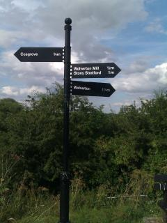 The walking and cycling routes are well signposted.