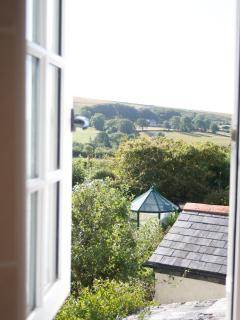 Dartmoor view from bathroom