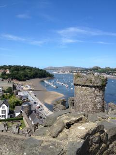 Views from Conwy Castel towards the Great Orme Llandudno