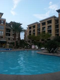 View of Unit from Pool- right onTop Floor