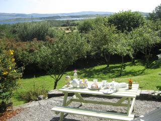 Breakfast on the patio overlooking Bantry Bay