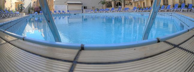Swimming facilities at a nearby hotel at a small extra fee