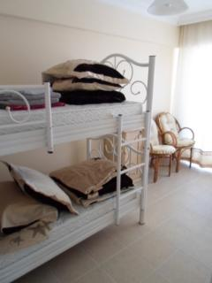 bunk beds with small balcony