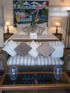 bedroom in pool cottage