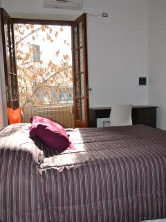 Bedroom 1 with french balcony