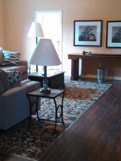 Large Living Area includes 2 Sofas, desk
