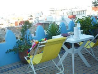Chairs on roof terrace fourth floor