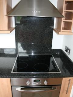 Oven, hob and extractor fan
