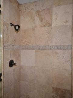 Master bathroom main level shower