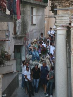 Procession through village