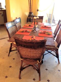 The formal dining area....It is ready for you!