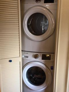 Front load new washer & dryer
