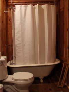 Downstairs full bathroom w claw foot tub