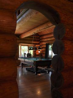 Livingroom and pool table.