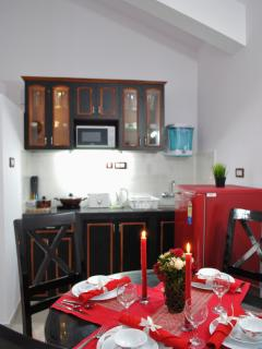 Open Kitchenette and Dining Area