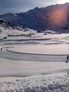Loipe (Cross Country skiing ) in valley