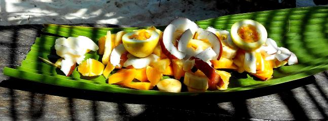Fresh Fruit salad at Fruita Cabana Bar (Anse Source d'Argent)