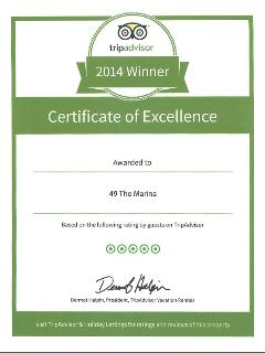 Proud to be awarded a Certificate of Excellence 2014 from Tripadvisor