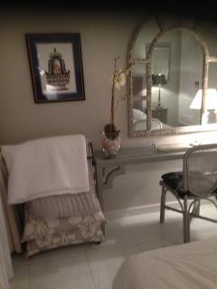 Master bedroom dressing table and bedcover stand