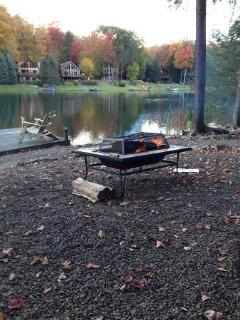 a fire by the lake AUTUMN 2015