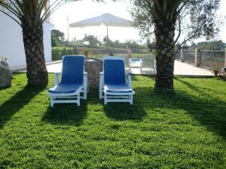 Some Sunbeds Around The Pool