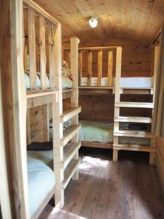 Bunk cabin with full size beds