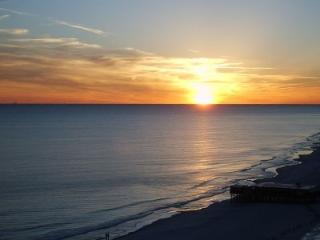 Sunset across the Gulf of Mexico from the 15th floor balcony.