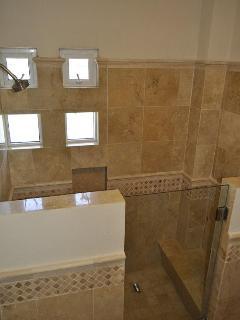 Shower in 1-bedroom condo