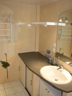 Salle de bain gewurztraminer. Non visible à gauche : douche et baignoire
