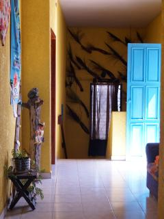 Upstairs Hallway with natural decorations