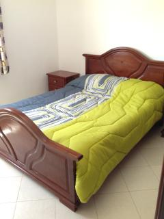 2nd bedroom wth double bed and built-in wardrobe - highly luminous