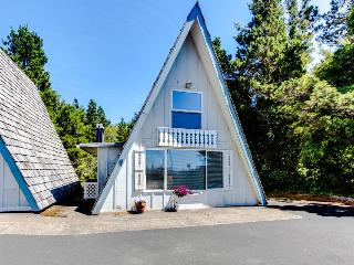 Dog-friendly, oceanfront cottage with beach trail and room for 6!