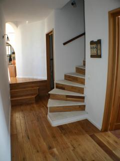 stairs to the upper room