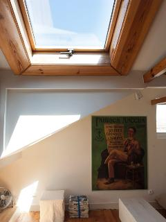 Living Room and skylight window