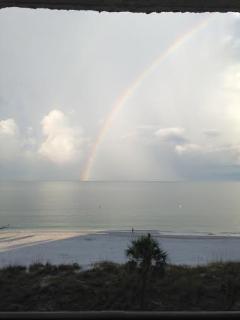 Morning rainbow; view from balcony