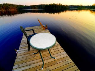 Luxury at the lake, own electric boat and bikes., Vetlanda