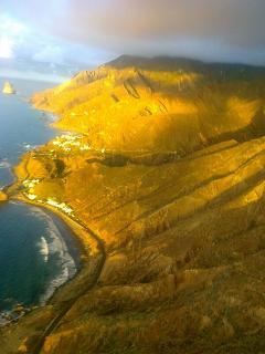 vista aérea de la costa. ( foto sacada desde parapente)