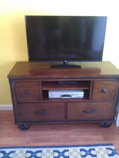 TV with storage in the drawers :)