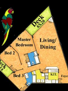 3 Bedroom Point Layout