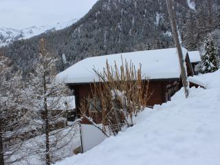 Chalet side winter