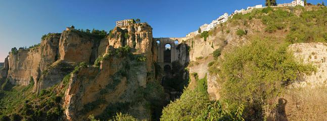 The beautiful town of Ronda nestled among the rocks - 1hr 15mins drive