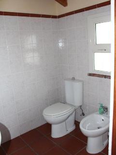 bagno in camera della stanza numero 3. visibile gabinetto e bidet. non visibile in foto, doccia.