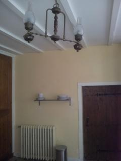 light fitting in kitchen